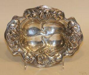 William B Kerr Thiery Gorham Sterling Silver 1204 Art Nouveau Floral Bowl 115g