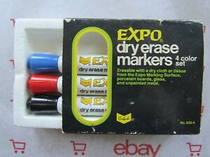 Ultra Rare 830 Vintage Expo Dry Erase white Board Markers Potent Ketone Ink