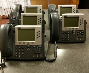 Lot Of Five Cisco Cp 7960g Ip Phone Voip