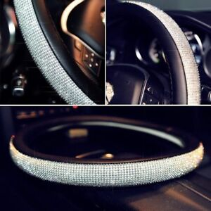 Full Rhinestone Car Suv Steering Wheel Cover 38cm General Soft For Ladies Girls