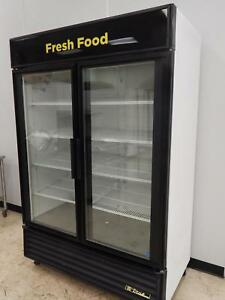 True 2 glass Door Merchandising Cooler Model Gdm 49