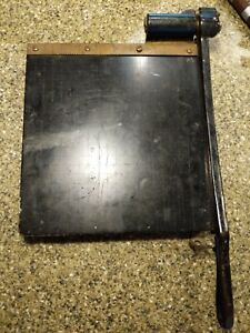 Antique Eastman No 10 Trimming Board Photo Paper Cutter Iron Steel 10x11
