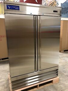 New Coolfront Two 2 Door Upright Commercial Stainless Steel Freezer 47 Cu New