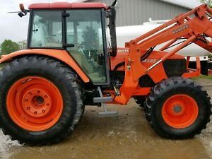 2008 Kubota M125x 4x4 Tractor Loader 36k Cash Local Sale New Tires