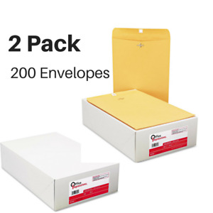 Office Clasp Envelopes 9 X 12 Brown Kraft 100 Count box 200 Total