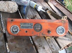 Vintage Ji Case La Series Tractor Dash With Tag And Gauges