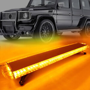 1x 38 Amber 72led Emergency Warning Flash Car Roof Top Strobe Light Bar Truck