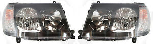 Alterzza Head Light Lamp Pair For Toyota Landcruiser 100 Series 2005 2007 Black