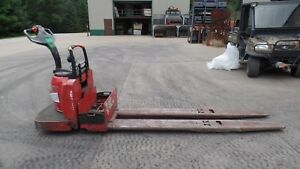 Raymond 8000 Lb Electric Pallet Jack 8400 No Battery Eight Foot Forks 2007