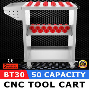 Bt30 Cnc Tool Trolley Cart Holders 50 Capacity Tooling Service Cart Steel Mill