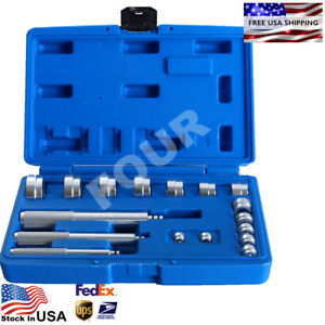 Aluminum Wheel Bearing Race Seal Bush Driver Set Garage Tool Kit 17pc Us Stock