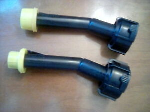 Two Blitz Gas Can Spouts With Original Yellow Caps