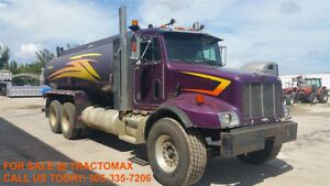 2002 Peterbilt 330 Water Truck W 4 200 Gal Tank Cat Motor Only 191k Miles