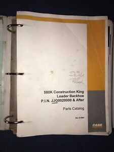 Case 580k Construction King Loader Backhoe Parts Catalog Bur 8 5581