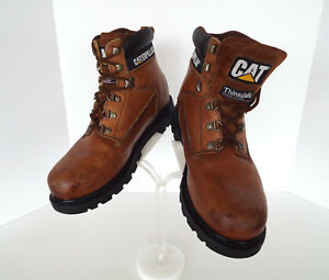 Caterpillar Size 9m Walking Machine Leather Work Boot Water Resistant Thinsulate