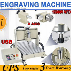 4 Axis Usb Cnc6040 Router Engraver Engraving Milling Drilling Machine Usa Best