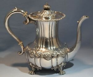 Howard Co Frank W Smith Sterling Silver Repousse Tea Coffee Pot New York 1890