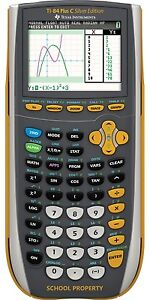 Texas Instruments Ti 84 Plus C Silver Edition Calculator W Color Screen yellow