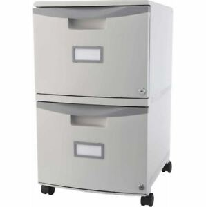 2 Drawer File Cabinet On Wheels Rolling Mobile Portable Lock Filing Legal Office