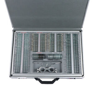 266pcs Optical Optometry Trial Lens Set Metal Rim Aluminum Case Free Trial Frame