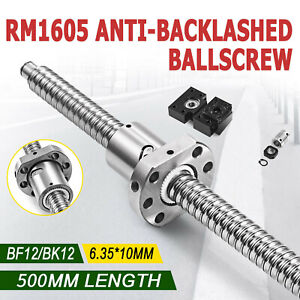 Anti Backlash 1 Set Of Bk bf12 End Machined 1 Coupler Ballscrew Rm1605 500mm c7