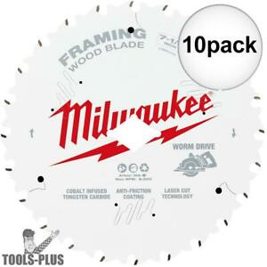 Milwaukee 48 41 0723 7 1 4 24t Worm Drive Framing Circular Saw Blade 10pk New