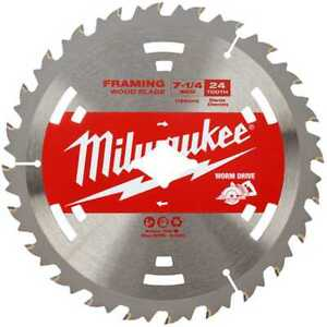 Milwaukee 48 41 0713 7 1 4 24t Worm Drive Basic Circular Saw Blade 10pk New