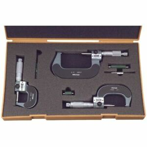 Mitutoyo 193 923 0 3 Mechanical Digital Outside Micrometer Set