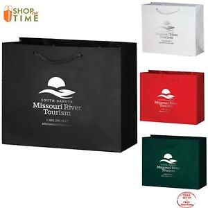 Custom Gloss Laminated Euro Tote Bag 9 X 7 X 3 5 Foil Stamp With Your Logo