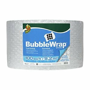 Duck Brand Large Bubble Wrap Roll 5 16 Cushioning 12 X 100 Perforated Every