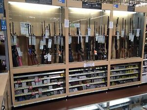 Gun Case Retail Store Spinning Lighted Gun Display Sales Fixtures Show Case