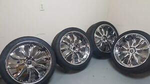 Rucci Rims Forged Chrome 24 s 6 Lug 2piece Wheel Standard Forge With Tires