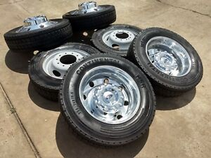 19 5 Ford F 450 Dually F 550 Ram 4500 2018 Rims Wheels Tires Oem 2016 2017 2019