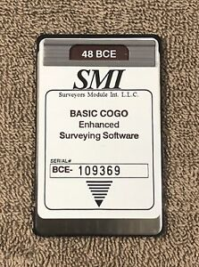 Smi Bce Surveying Card For Hp 48gx Calculators