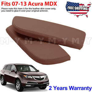 Fits 09 13 Acura Mdx Leather Center Console Lid Armrest Cover Skin Brown Umber
