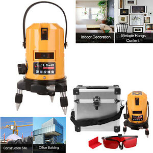 5 Lines 6 Points Laser Level Self Leveling Multipurpose Cross line 360 Degree
