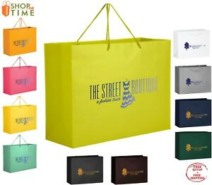 Custom Matte Laminated Euro Tote Bag 13 X 10 X 5 Foil Stamp With Your Logo