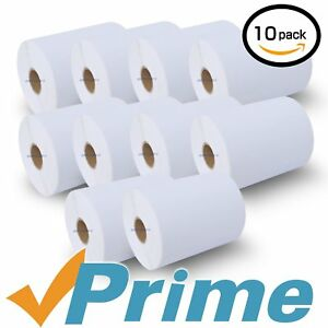 10 Rolls Dymo 1744907 Compatible 4xl Internet Postage Shipping Labels 4 X 6