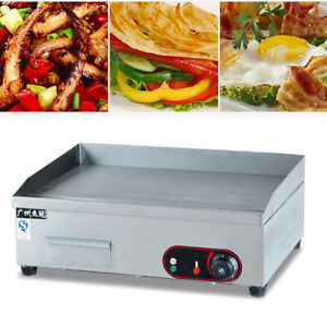Commercial Electric Griddle Grill Teppanyaki Scoop Machine Bbq Plate