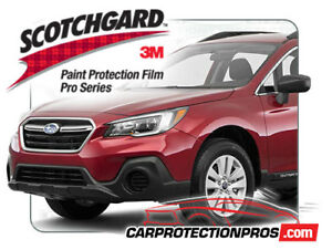 2019 Subaru Outback 3m Pro Series Clear Bra Pre cut Deluxe Protection Kit