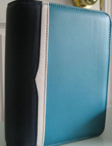 Franklin Covey Bailey Leather Zipper Binder And Living Color Daily Pages Compact
