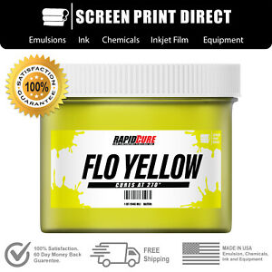 Fluorescent Yellow Screen Printing Plastisol Ink Low Temp Cure 32oz