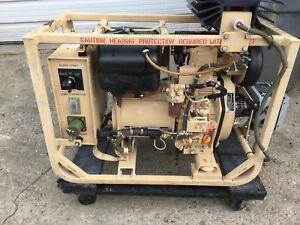 Dewey Electronics 531a 2 Kw Tactical Military Diesel Generator 120vac