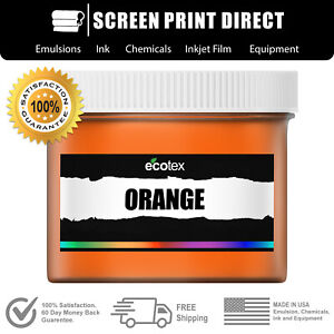 Ecotex Orange Premium Plastisol Ink For Screen Printing 1 Gal 128oz