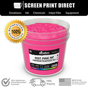Ecotex Hot Pink Np Premium Plastisol Ink For Screen Printing 1 Gallon