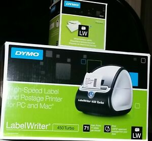 Dymo Labelwriter 450 Turbo Thermal Label Maker Postage Printer 700 Labels