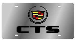 New Cadillac Cts Logo Stainless Steel License Plate