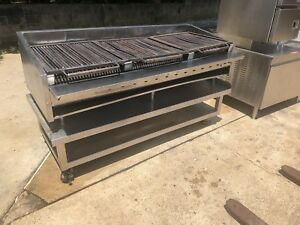 72 Gas Charbroiler Char Grill W Heavy Duty Low Boy Table Free Delivery