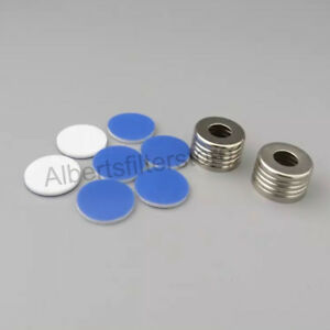 100pcs Sample Vial Caps septa With Hole For 10ml 20ml 18mm Screw Top Vial