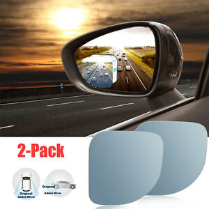 2x Universal 2 Car Rear Side View Blind Spot Mirror Auto Wide Angle Adjustable